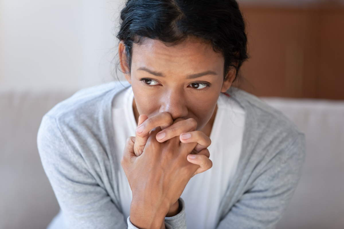 Transtorno de ansiedade generalizada anxious-woman